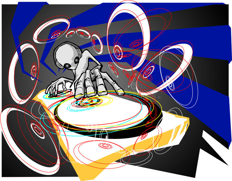 Ausländer DJ lizenzfreie abbildung
