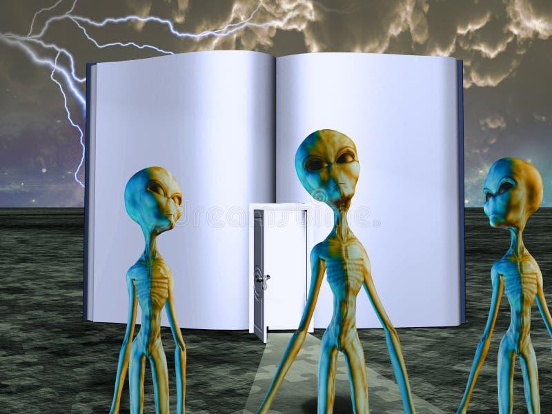 Ausländer-Geschichten-Buch lizenzfreie abbildung