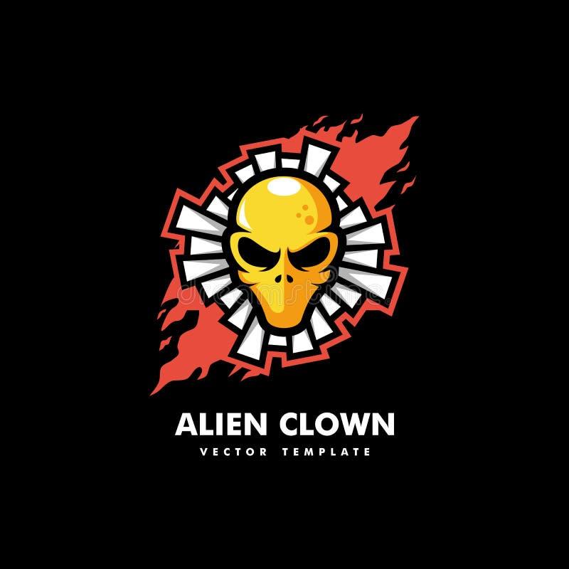 Ausländische Clown-Concept-Illustrationsvektorschablone vektor abbildung