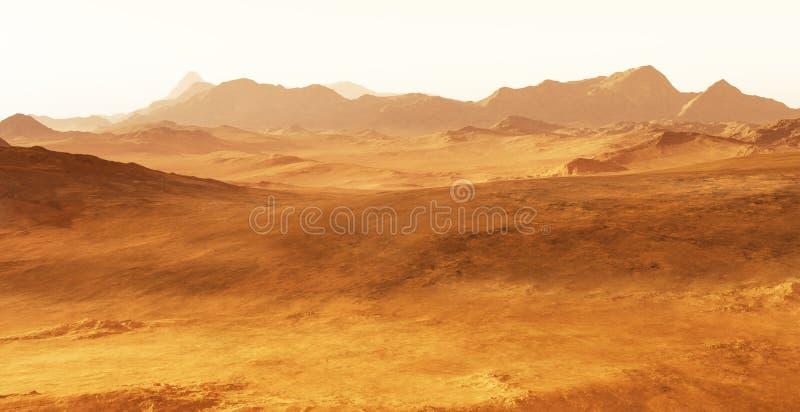 Ausländische planetarische Landschaft vektor abbildung