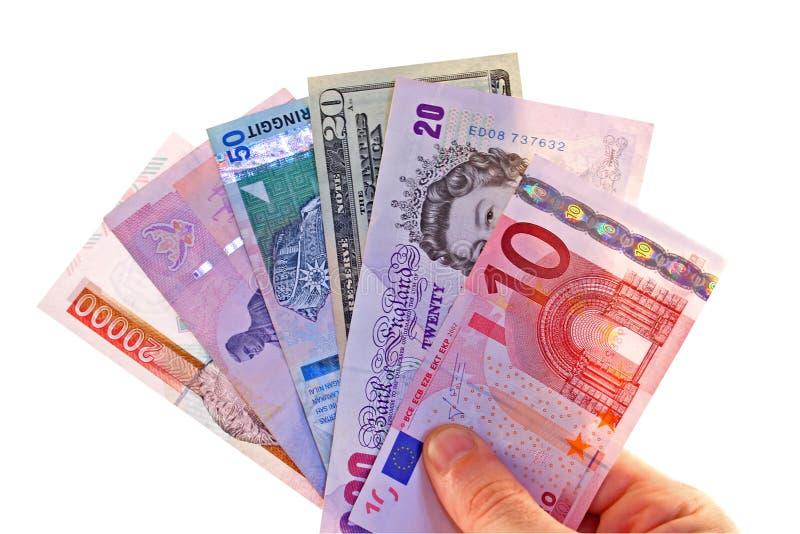 Ausländische Währungen stockfotos