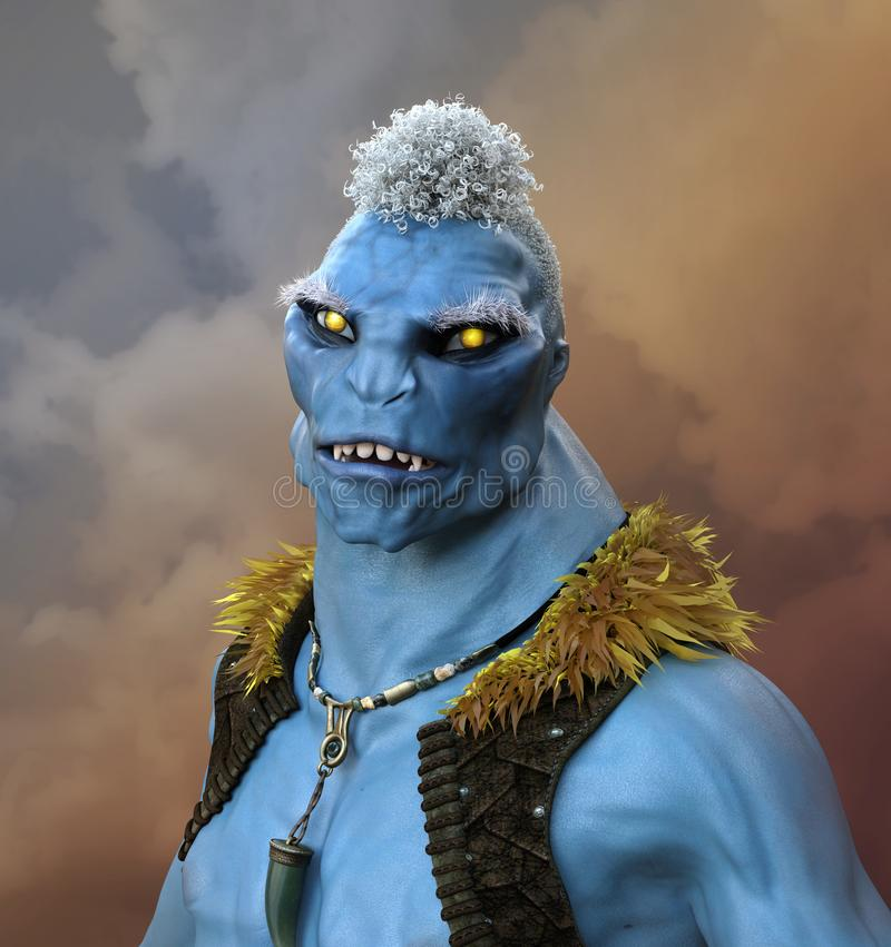 Ausländischer Mutant mit gelben Augen lizenzfreie abbildung