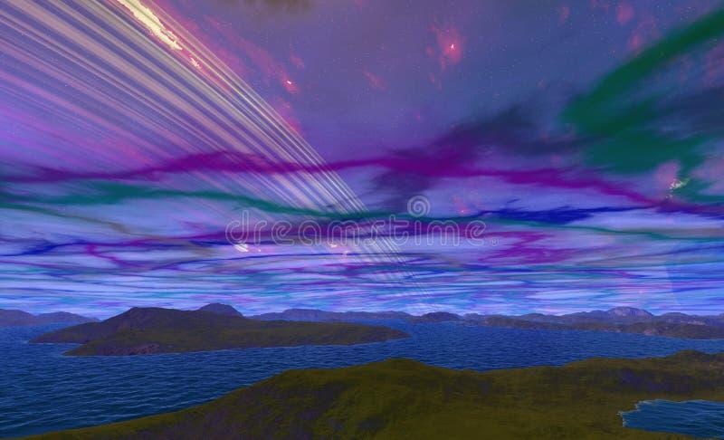 Ausländischer Planet ilustración del vector