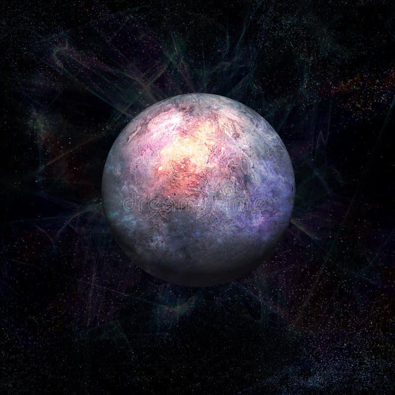 Ausländischer Planet, Exoplanet 3D übertragen stock abbildung