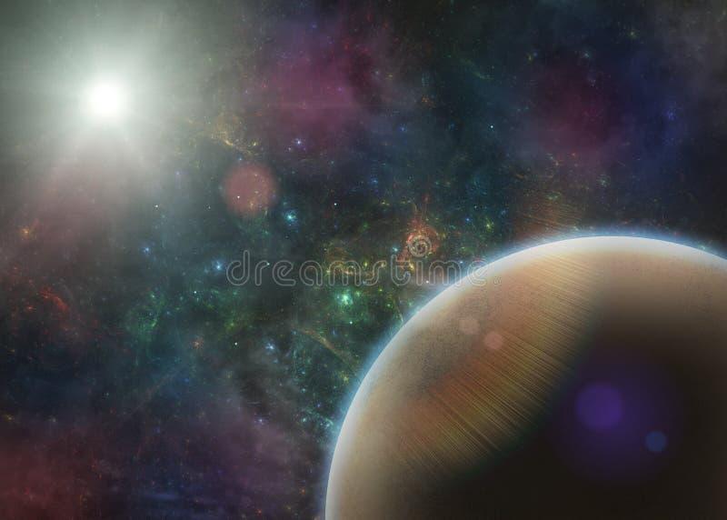 Ausländischer Planet im Raum - Illustration lizenzfreie abbildung