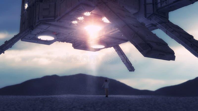 Ausländisches Raumschiff UFO-Konzept lizenzfreie stockfotografie