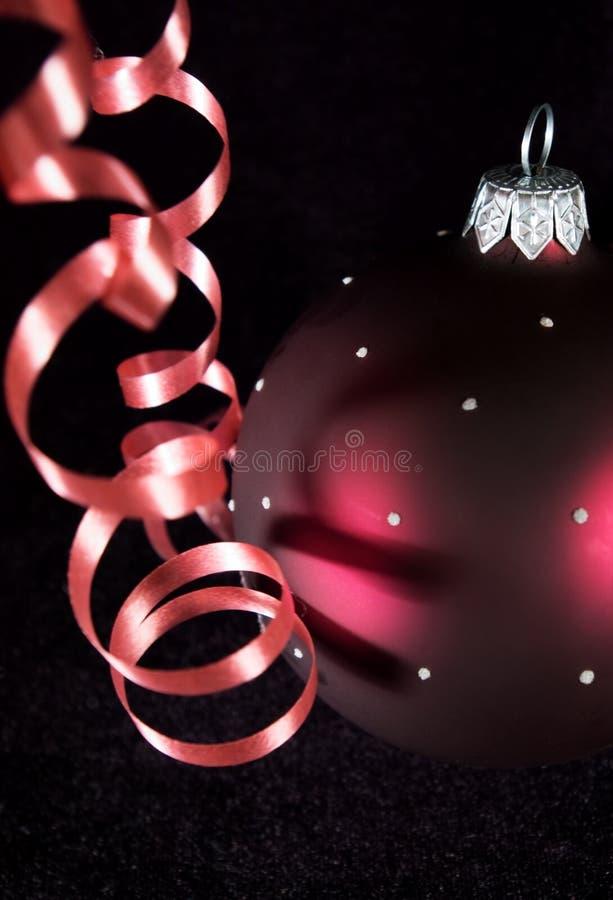 Ausläufer und Weihnachtskugel stockbild