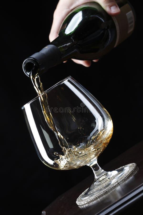 Auslaufender Weinbrand lizenzfreies stockbild