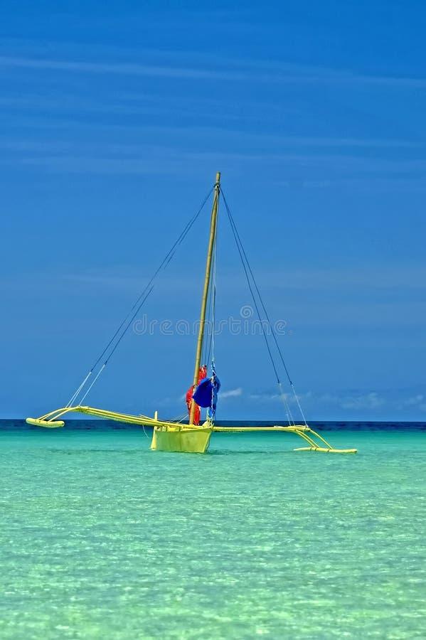 Ausleger, Boracay-Insel, Philippinen stockbilder