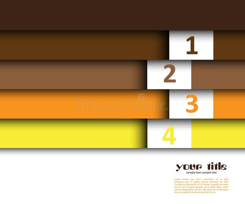 Auslegung 3d mit Farbfahnen lizenzfreie abbildung