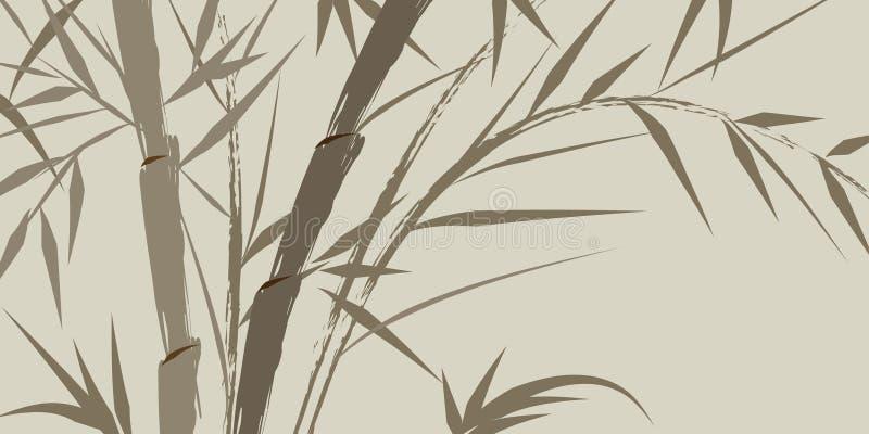Auslegung der chinesischen Bambusbäume vektor abbildung
