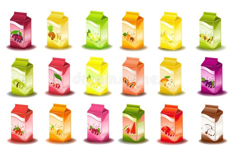 Auslegung der milchigen Produkte der Verpackung lizenzfreie abbildung