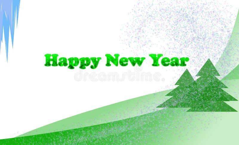 Auslegung des neuen Jahres lizenzfreie abbildung