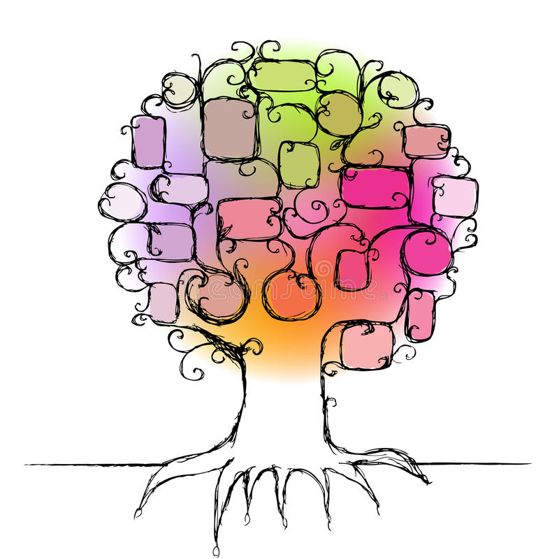 Auslegung des Stammbaums stock abbildung