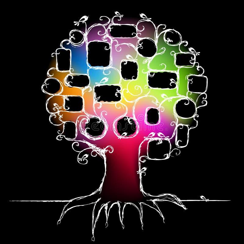 Auslegung des Stammbaums, stecken Ihre Fotos ein stock abbildung