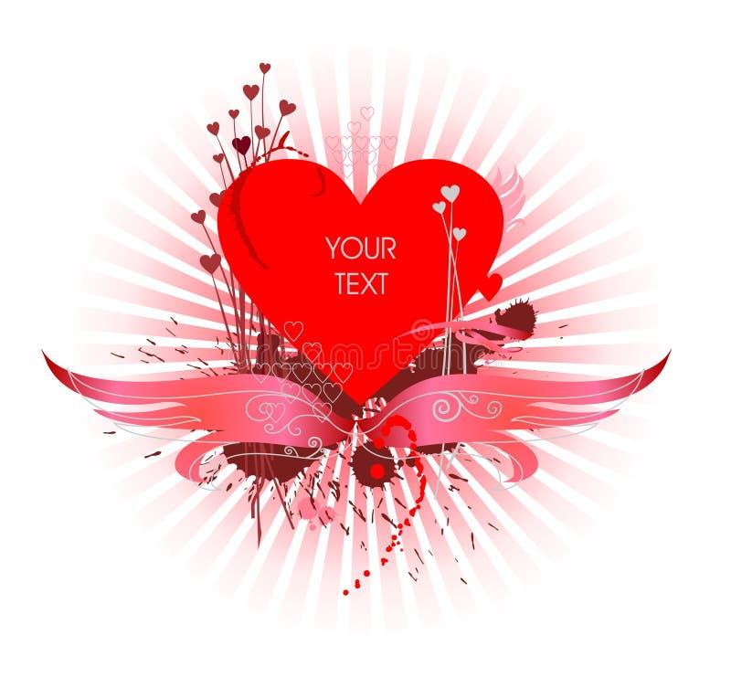 Auslegung des Valentinsgrußes stock abbildung