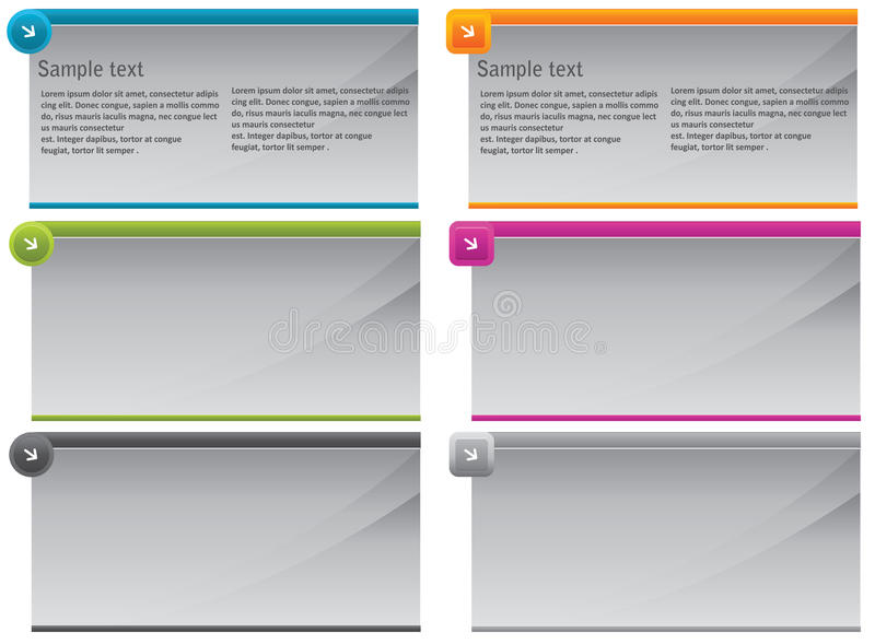 Auslegung-Elemente stock abbildung