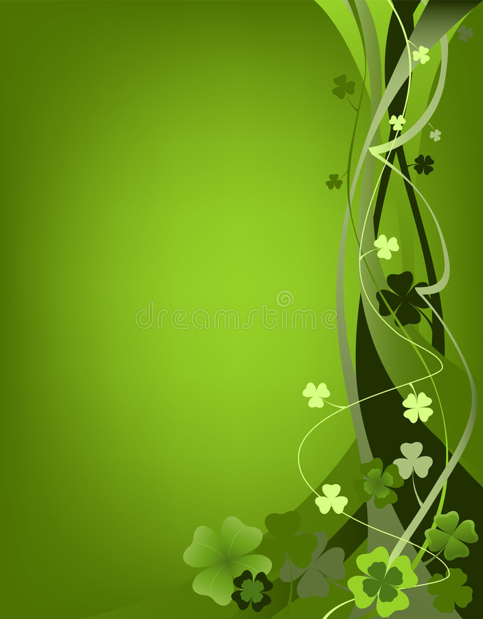 Auslegung für Tag Str.-Patricks stock abbildung