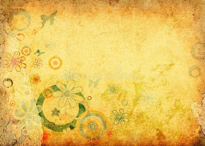 Auslegung mit Blumen vektor abbildung