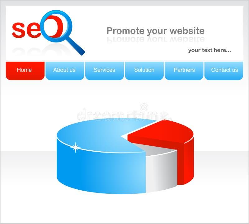 Auslegung von Web site für seo stock abbildung