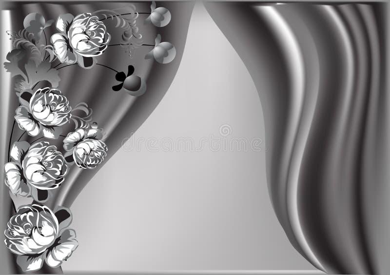 Auslegungabbildung mit grauen Blumen stock abbildung