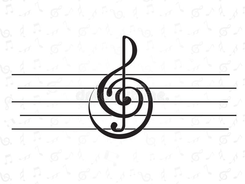 Auslegungelement. Musik lizenzfreie abbildung