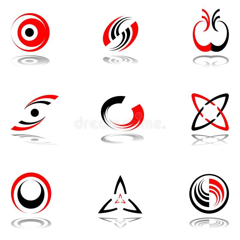 Auslegungelemente in den rot-grauen Farben #3. lizenzfreie abbildung