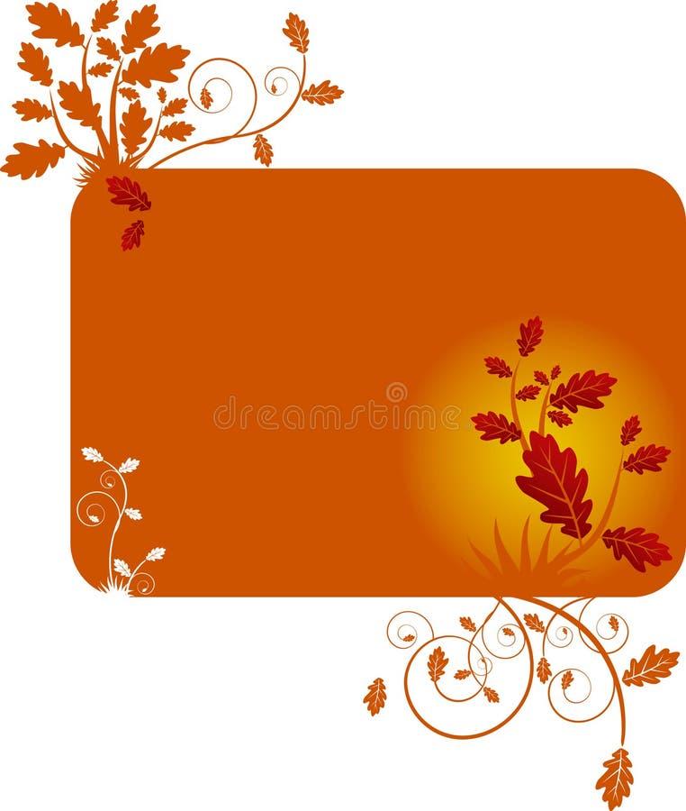 Auslegungschablone mit Eichenblättern stock abbildung
