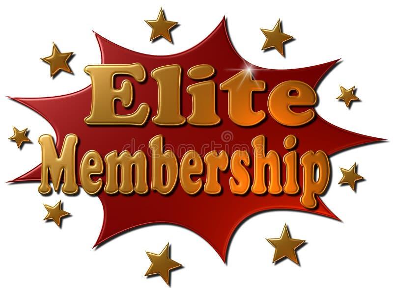 Auslese-Mitgliedschaft (Explosion) stock abbildung
