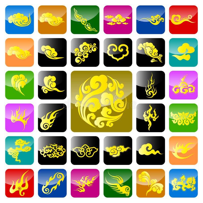 auspicious kinesisk oklarhet vektor illustrationer