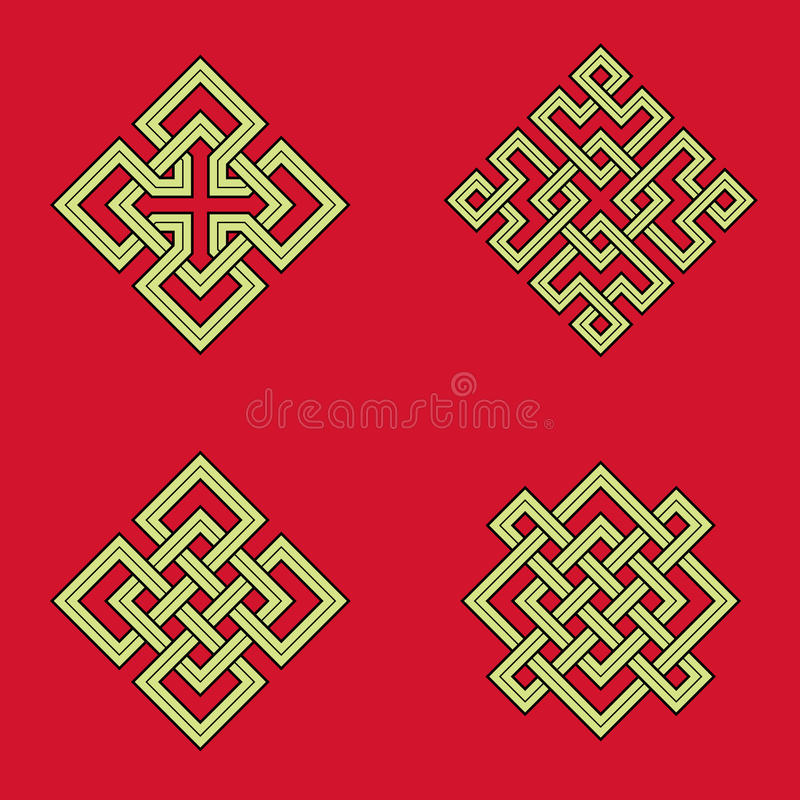 Auspicious Knots Stock Vector Illustration Of Geometric 48440393
