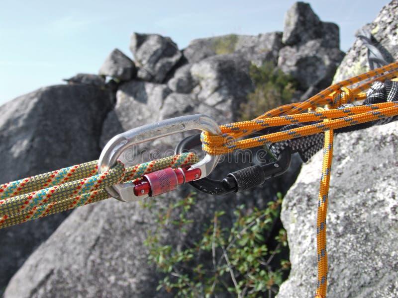 Ausrüstung für climbin stockbilder