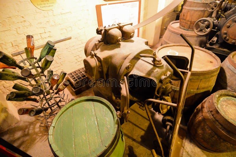 Ausrüstung für die Brauerei stockfoto