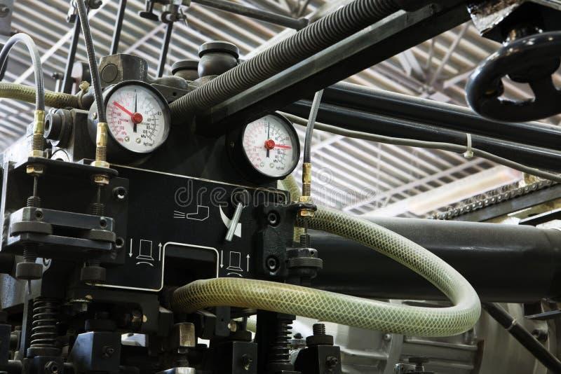 Ausrüstung für eine Presse stockfotos