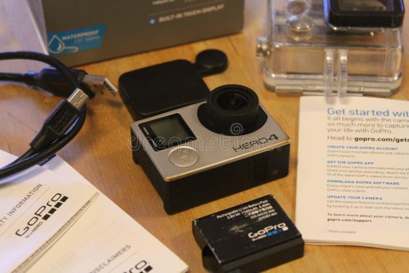 Ausrüstung GoPro HERO4 stockfotografie