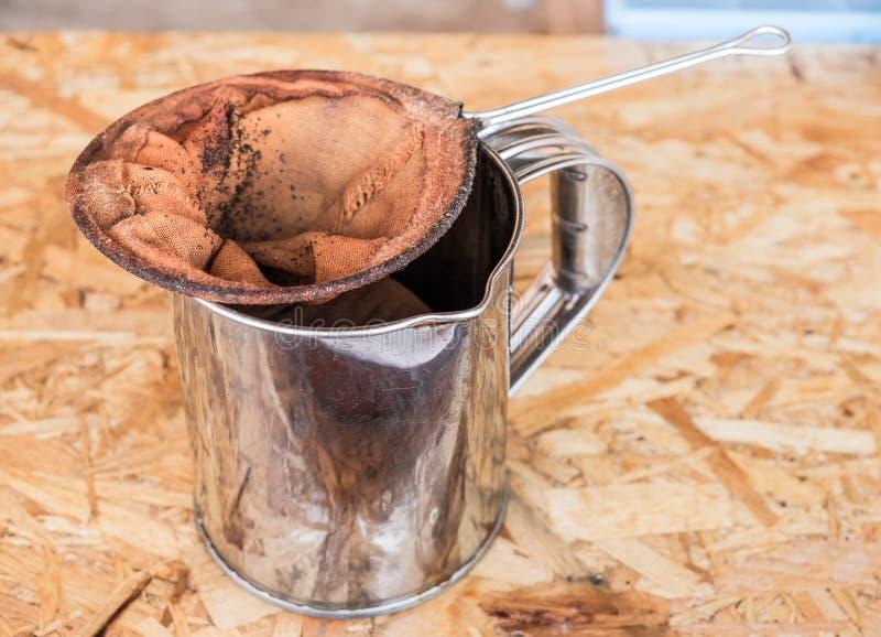 Ausrüstung machen Kaffee alt stockfoto