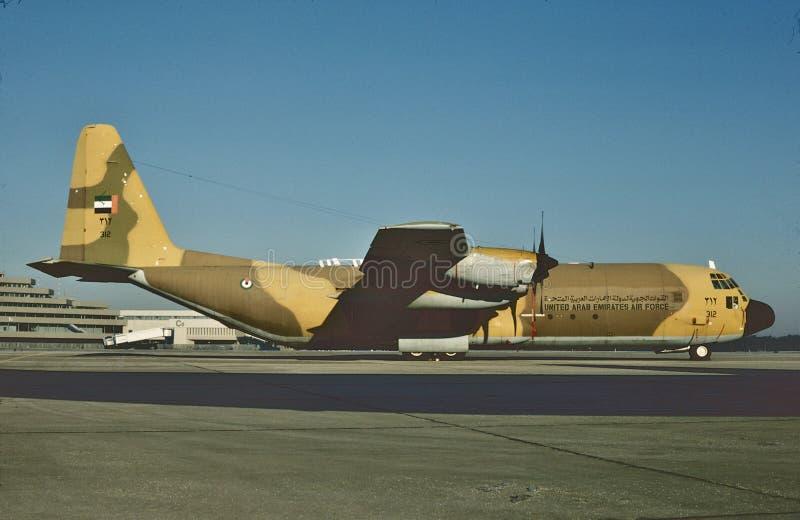 Ausrichtung 312 Arabische Emirate-Luftwaffen-C-130H stockfotos