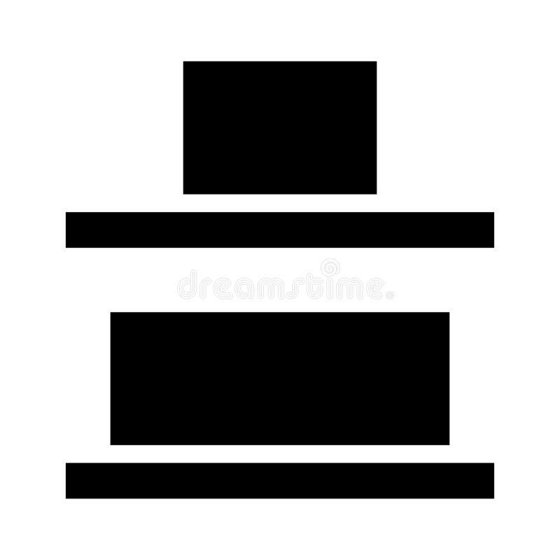 Ausrichtungsvektor Glyphsikone stock abbildung