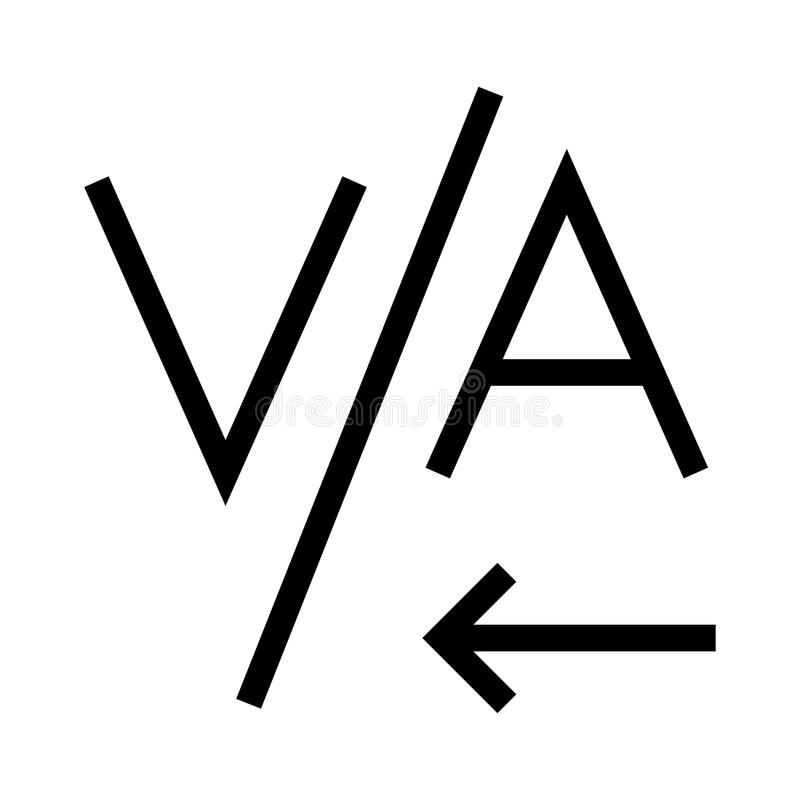 Ausrichtungsvektorlinie Ikone vektor abbildung