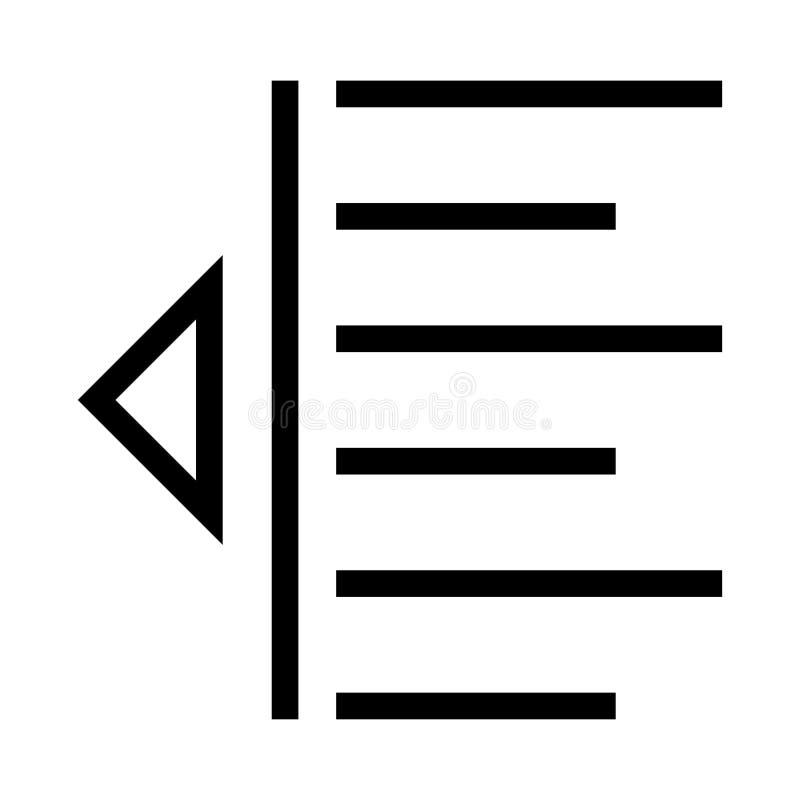 Ausrichtungsvektorlinie Ikone stock abbildung