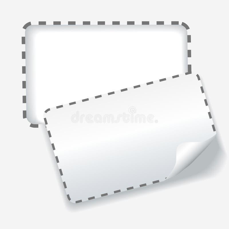Ausschnitt aufgerundete punktierte Zeile Hintergrund des Kupons lizenzfreie abbildung