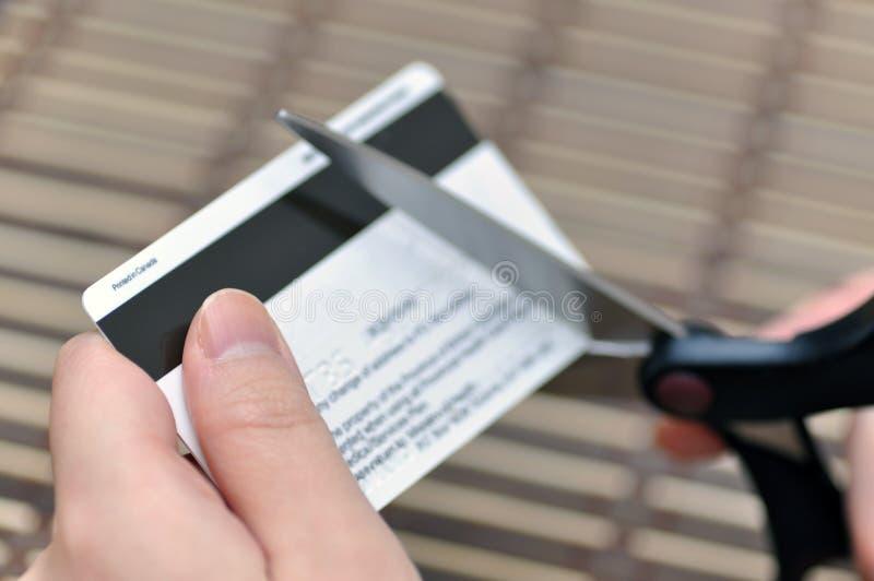 Ausschnitt-Kreditkarte lizenzfreies stockbild