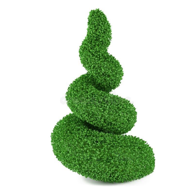 Ausschnittbusch in Form einer Spirale lizenzfreie abbildung