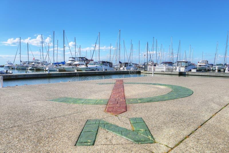 Aussicht auf den Jachthafen von Oakville in Ontario, Kanada lizenzfreies stockfoto