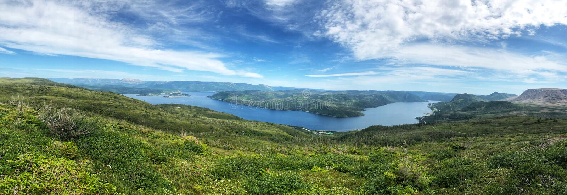 Aussicht auf den Nationalpark Gros Morne stockbild