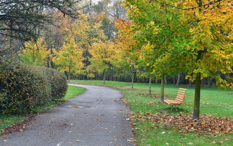 Aussicht auf die Herbstlandschaft, Südböhmen lizenzfreie stockbilder