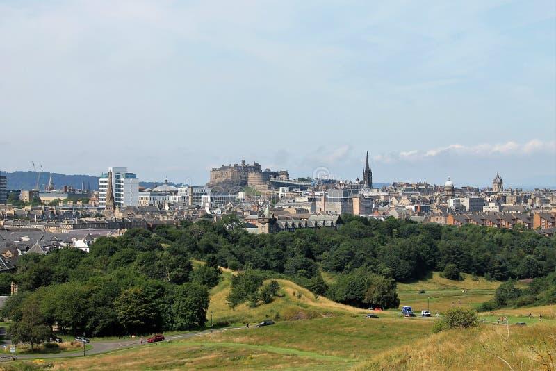 Aussicht auf Edinburgh, Schottland lizenzfreies stockfoto