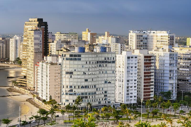 Aussicht auf Sao Vicente SP Brasilien lizenzfreies stockbild