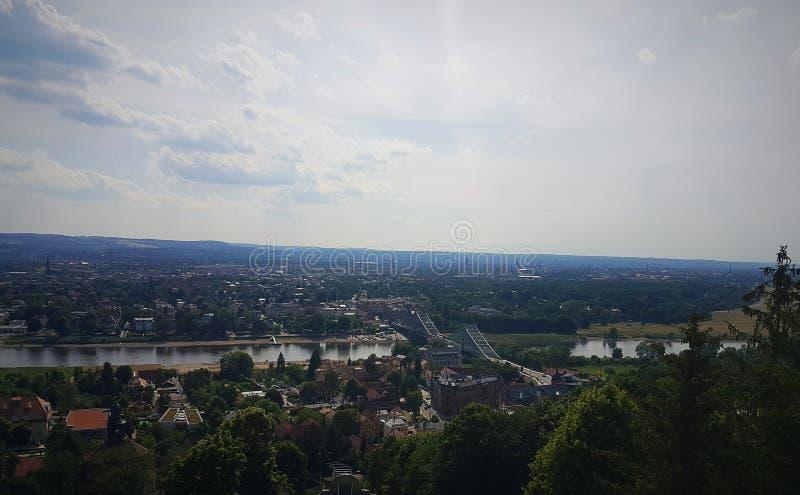 Aussicht em Dresden fotos de stock