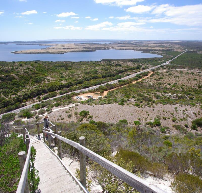 Aussicht-Hügel-Ausblick stockfotografie